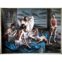 "Wholesale ART OIL PAINTING Five  Figures the Peking 2008 36""X48"" from china suppliers"