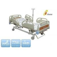 Quality ABS Medical Hospital Beds Foldable Care Beds With Steel Punching Board brake castors (ALS-M308) for sale