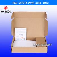 Quality FTTH 4FE, 4GE 2POTS wifi EPON ONU HGU by optic network original manufacturer for sale