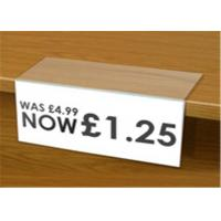 Wholesale Low Cost Acrylic Shelf Talkers Shelf Price Holders for Retail Stores / Book Store from china suppliers