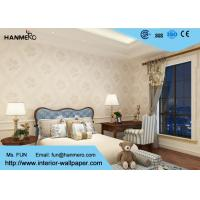 Beige Floral Pattern Non Woven Wallcovering Interior Decorating Wallpaper