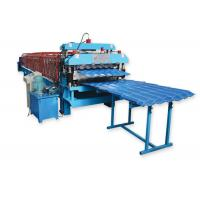 Wholesale Metal Roofing Sheet Double Layer Roll Forming Machine By Chain Hydraulic Decoiler from china suppliers