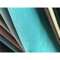 Wholesale Durable PU Faux Suede Leather Fabric , Safety Synthetic Suede Fabric from china suppliers