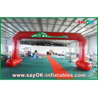 Quality Red PVC Printed Start Finish Line Arches Double Sewing Inflatable Entrance Arch for sale