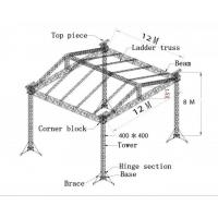 Wholesale Outdoor Heavy Duty Highly Polished Aluminum Stage Truss , Lighting Roof Truss from china suppliers