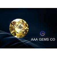 Wholesale Rynthetic Yellow Moissanite Round , Flower , Star G or H In Color from china suppliers