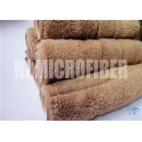 Wholesale 80% Polyester 20% polyamide 30*40 microfiber cleaning towel 450gsm coral fleece piped square  towel from china suppliers