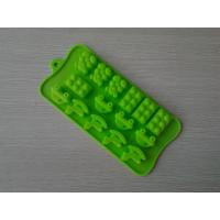 Wholesale Custom Made Shaped Silicone Chocolate Mould With Green / Chocolate Color from china suppliers