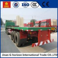 Quality 13T Fuwa Axle 40 ton Flat Bed Semi Trailer , Container Semi Trailer Yellow Red Green Blue for sale
