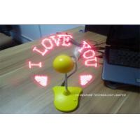 Wholesale Portable Mini external Laptop Fan Usb  With Programed Message from china suppliers