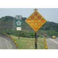 Wholesale Yellow Solar Powered Traffic Signals , LED Solar Powered Warning Lights from china suppliers