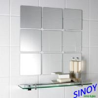 Quality Square Decorative Glass Mirrors With Polished Edge / decorative wall mirror for sale