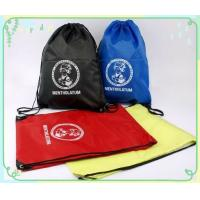 Wholesale backsack drawstring bags, made of polyester fabric from china suppliers
