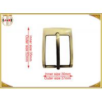 Wholesale Gold Custom Metal Pin Belt Buckle / Mens Fashion Belt Buckles from china suppliers