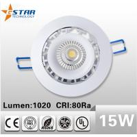 Wholesale Led Recessed Ceiling Downlights 15W, Cutout 95mm, Intelligent IC Power supply from china suppliers