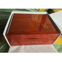 Buy cheap Square Solid Piano Coating Red Wooden Jewelry Box For Gift Case With Jewelry Storage from wholesalers