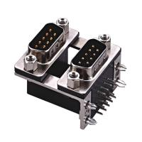 Wholesale D type  two part  with fork Right Angle Dual Row D Sub Connector PBT black 15 Pin wcon ROHS from china suppliers