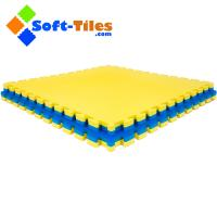 Wholesale Gym Floor mat 1m*1m wtih double colour and high density EVA foam from china suppliers