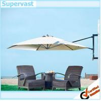 Wholesale White Wall Mounted Offset Patio Umbrella with Aluminum Frame 6 Steel ribs from china suppliers