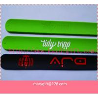 Wholesale logo printed silicone slap band bracelet from china suppliers