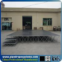 RK mobile folding plywood stage platform with aluminum folding riser