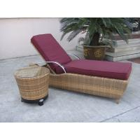 Wholesale Waterproof Cane Sun Lounger , Resin Wicker Chaise Lounge Set from china suppliers