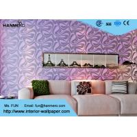 Wholesale Modern Wall Covering , Purple Geometric Removable Wallpaper For Bedding Room from china suppliers