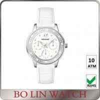 Wholesale Sapphire Glass Women'S Stainless Steel Watches , Round Dial Ladies Silver Chronograph Watch from china suppliers