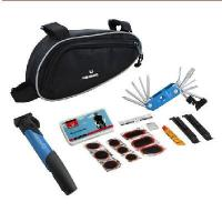 Quality Bike Bicycle Cycling Tire Tyre Multi-use Repair Tools Pump Kits Bag Glue Patch for sale