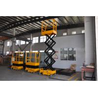Quality 3.9m height  Mini Scissor Lift with 200Kg Loading and Yellow Color for sale