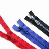 Wholesale Plastic Long Chain Zipper, Comes in Various Colors, with Excellent Quality, Smooth Running from china suppliers