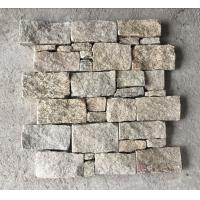 Wholesale Yellow Granite Z Stone Panel with Steel Wire Back,Natural Z Stacked Stone for Outdoor Wall Decor from china suppliers