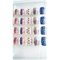 Wholesale USA National Day  Fake Nails Transparent Nail Tips none-toxic from china suppliers