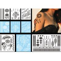 Wholesale Childrens Temporary Black Henna Tattoo Stickers Beautiful Patterns Waterproof from china suppliers