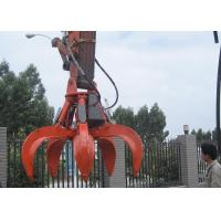 Wholesale 5 Cylinders Excavator Grapple , Hydraulic Orange Peel Grapple from china suppliers