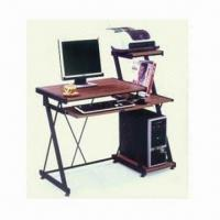 Wholesale Computer Desk, Measures 1,000 x 550 x 750mm, with 8mm Tempered Glass and Iron Pipe from china suppliers