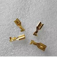 Wholesale 6.3 male and female terminal plug spring / connector / cold terminal copper / hard sheath thickening line from china suppliers