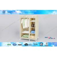 Wholesale Portable Closet Wardrobe Storage Racks / Sliding Wardrobe Clothes Rack with Wheels from china suppliers
