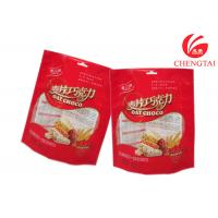 Wholesale Red Color Heat Sealable Stand Up Pouches for Cracker Food Packaging from china suppliers