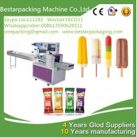 Wholesale Automatic popsicle packaging machine with feeder , ice lolly wrapping machine {factory } from china suppliers