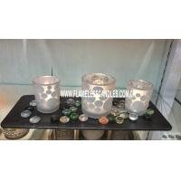 Wholesale LED Glass Candle with Tealight Candle / Flameless Birthday Candles for Gifts from china suppliers