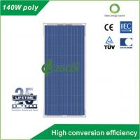 Quality 140 Watt PV Polycrystalline Solar Panels with 25 Years Lifetime TUV Certified for sale