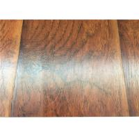 Quality Hand Scraped DIY Distressed Laminate flooring Mahogany Wood AC4 U Bevel for sale