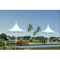 Quality Sun Shelter Hotel Platform Steel Car Canopy Tents Membrane Structure Projects With PVDF Material Cover for sale