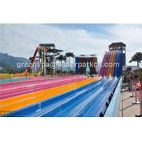 Wholesale Theme Water Park / Swimming Pool Fiberglass Adult Water Slides 12 m Height from china suppliers