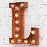 Wholesale 12 Inch / 9 Inch LED Carnival Lights , Vintage Alphabet Battery Light Letters from china suppliers