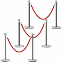 Wholesale Ball Top Metal Stanchion Posts 51mm Pole Diameter With 4-Way Adapter from china suppliers