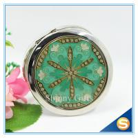 Quality Shinny Gifts Metal Compact MirrorJeweled Makeup Pocket Mirror Custom Cosmetic Mirror for sale