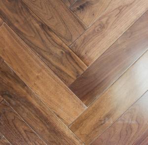 Wholesale American Walnut Fishbone wooden floors, American walnut herringbone  flooring from china suppliers