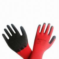 Wholesale Black Yarn Red Latex Working Gloves, Various Colors are Available  from china suppliers